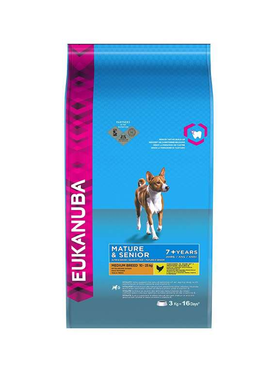 Eukanuba Mature & Senior Medium Breed, Kip 3 kg 5000174620054