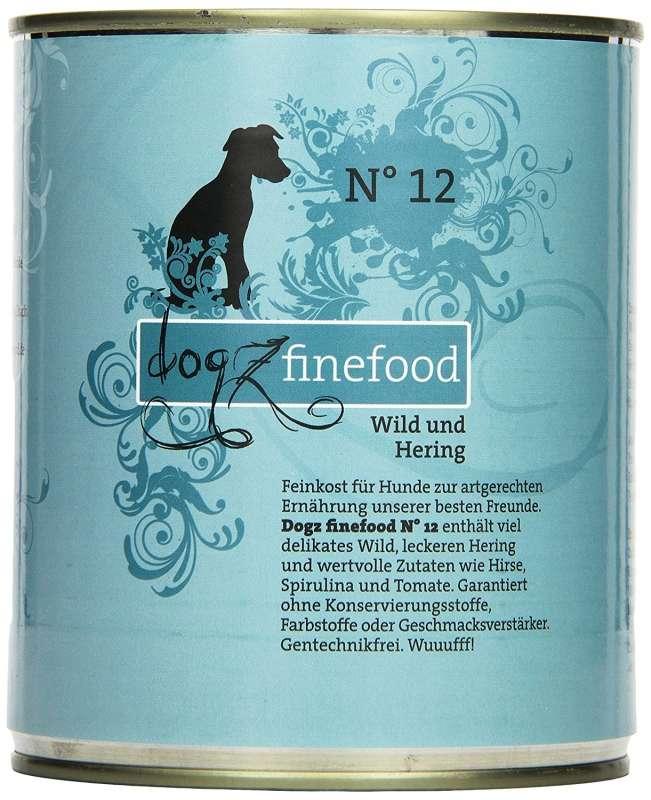 Dogz Finefood No.12 Wild & Hering 800 g 4260101763440