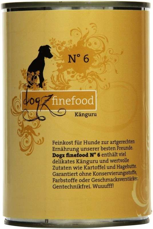 Dogz Finefood No.6 Känguru 400 g, 200 g, 800 g, 100 g