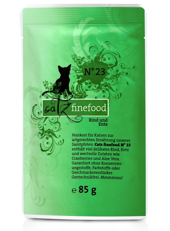 Catz Finefood No.23 Beef & Duck 85 g