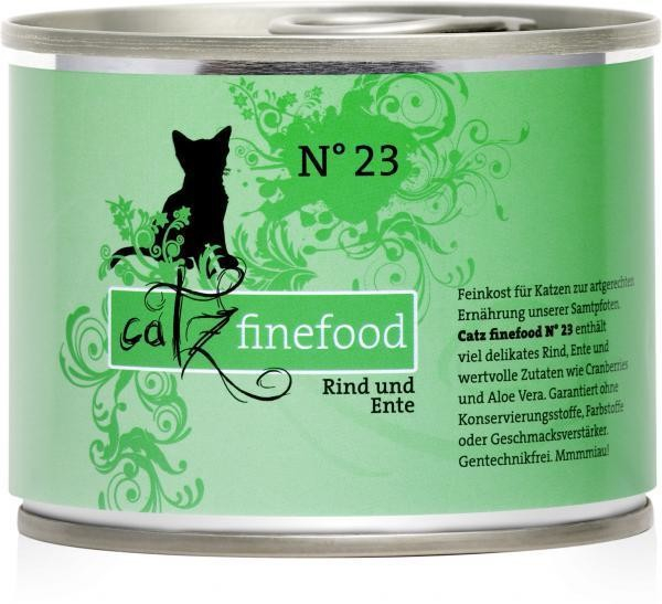 Catz Finefood No.23 Beef & Duck 200 g, 400 g, 800 g, 85 g test