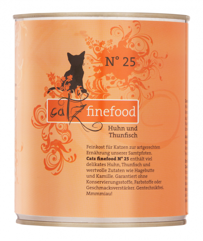 Catz Finefood No.25 Chicken & Tuna 200 g, 400 g, 800 g, 85 g test