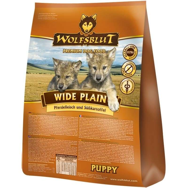 Wolfsblut Wide Plain Puppy horse meat with sweet potatoes 7.50 kg, 500 g, 2 kg, 15 kg
