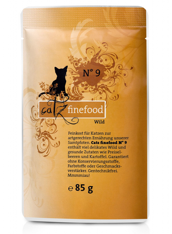 Catz Finefood No.9 Game 200 g, 400 g, 800 g, 85 g test