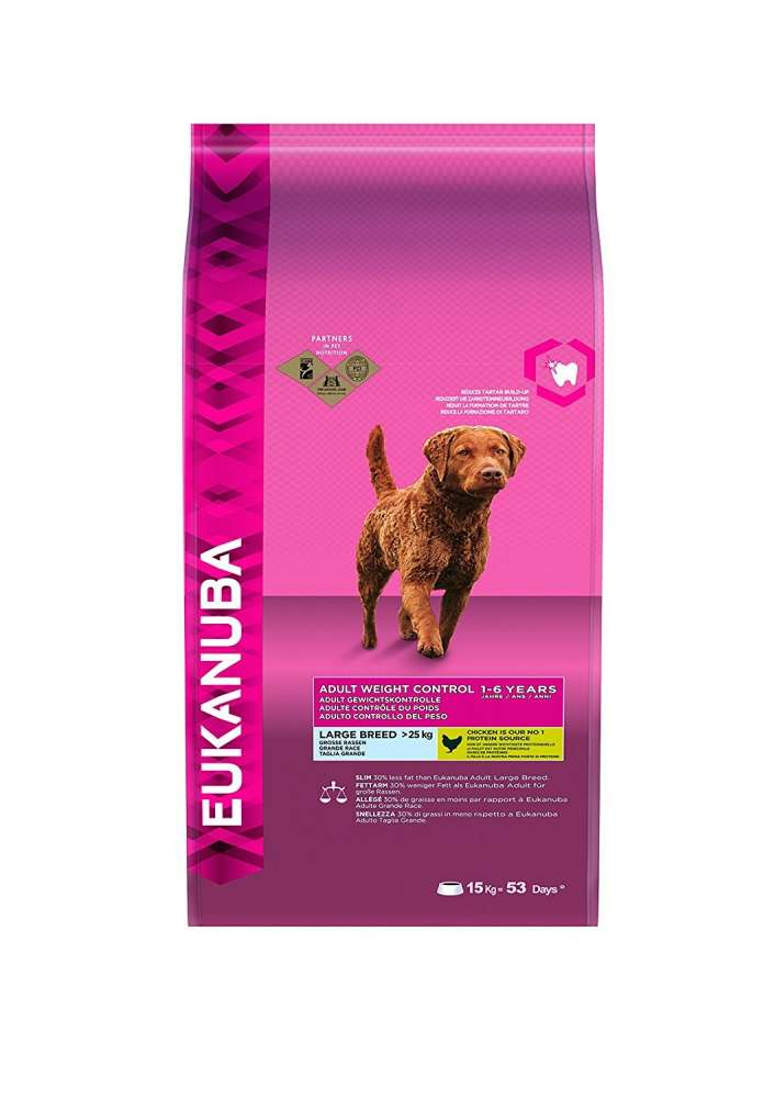 Eukanuba Adult Large Breed, Weight Control, Kip 15 kg