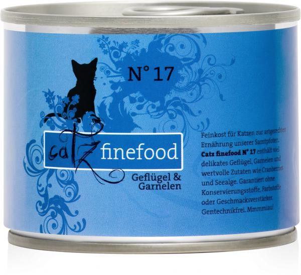 Catz Finefood No.17 Poultry & Schrimps 200 g, 400 g, 800 g, 85 g test