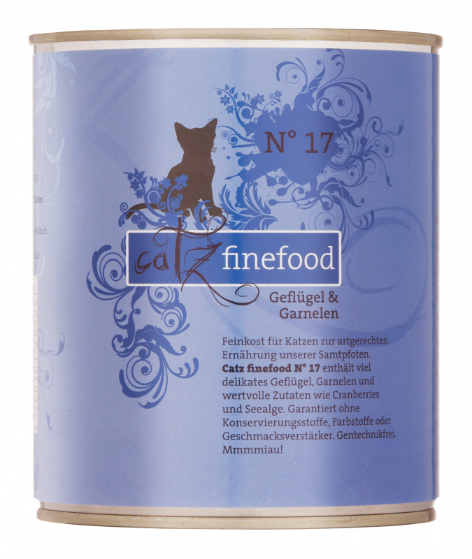 Catz Finefood No.17 Gevogelte & Garnalen 800 g