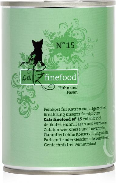 Catz Finefood No. 15 Chicken & pheasant EAN: 4260101763082 reviews