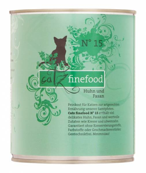 Catz Finefood No. 15 Chicken & Pheasant 800 g