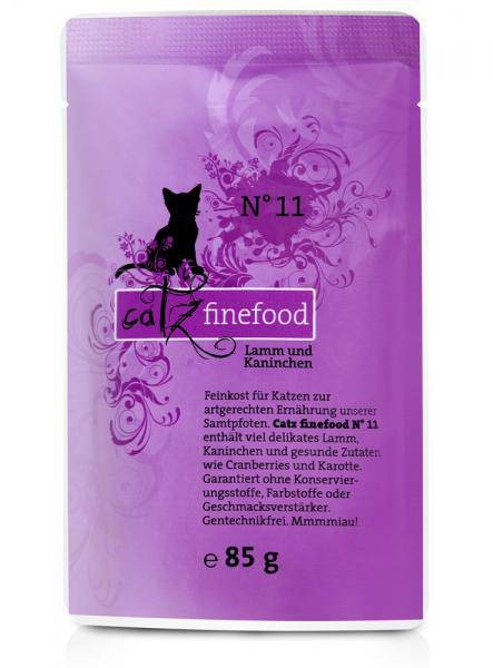 Catz Finefood No. 11 Lamb and Rabbit 200 g, 400 g, 800 g, 85 g test