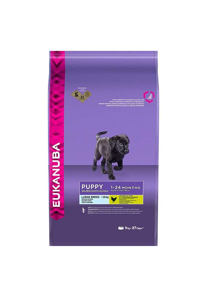 Eukanuba Puppy Large Breed, Kyckling 9 kg