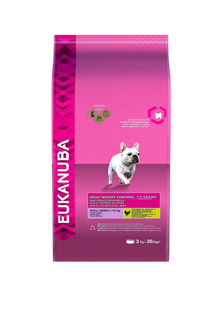 Eukanuba Adult Small Breed, Weight Control, Chicken 3 kg osta edullisesti
