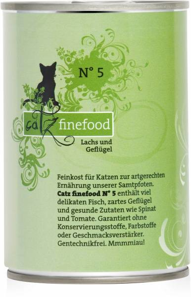 Catz Finefood No.5 Salmon & Poultry 85 g, 800 g, 400 g, 200 g buy online