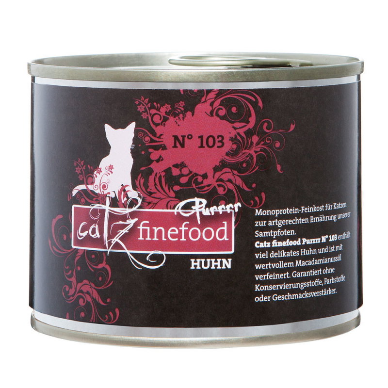 Catz Finefood Purrrr No. 103 Chicken 80 g, 750 g, 375 g, 190 g, 85 g, 800 g, 400 g, 200 g test