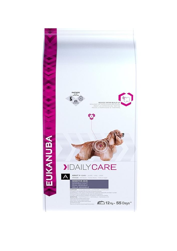 Eukanuba Daily Care Sensitive Skin, All Breed, Huid 12 kg