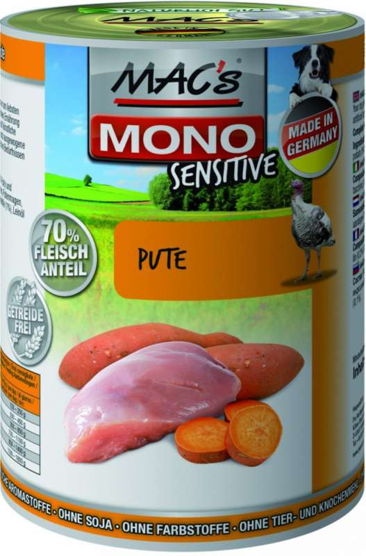 MAC's Dog Mono - Sensitive Kalkoen Blikje 400 g