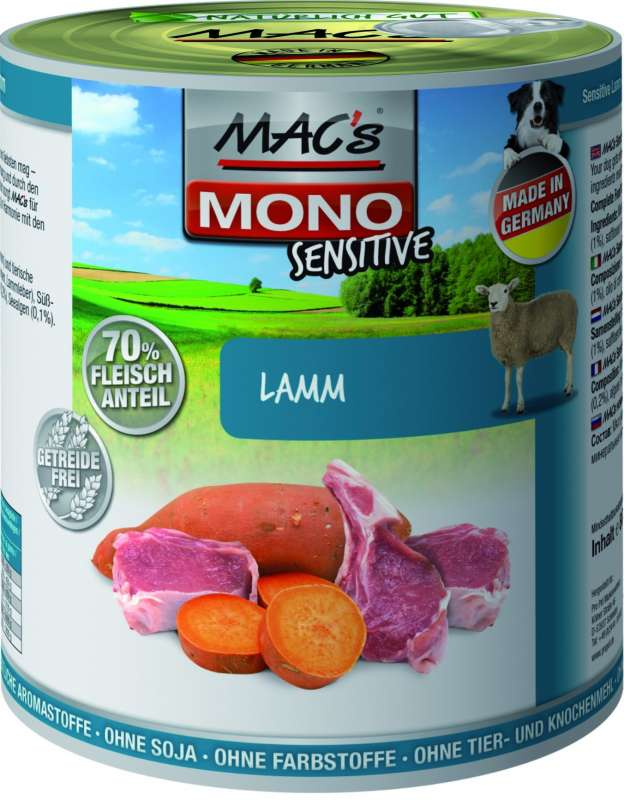 Dog Mono - Sensitive Lam Blikje 800 g