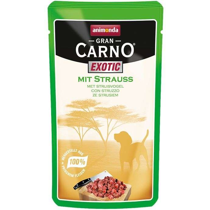 GranCarno Pouch Exotic - Ostrich from Animonda 125 g buy online