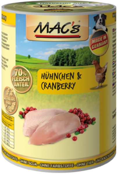 MAC's Dog - Chicken & Cranberry 400 g