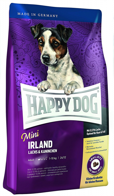 Happy Dog Supreme Mini Irland Laks & Kanin 4 kg, 1 kg, 300 g