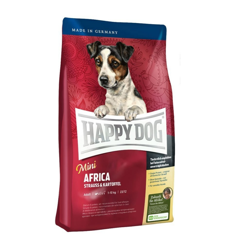 Happy Dog Supreme Mini Africa Strutsin & Perunan 300 g, 1 kg, 4 kg