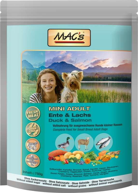 MAC's Dog - Mini Adult Duck & Salmon 750 g