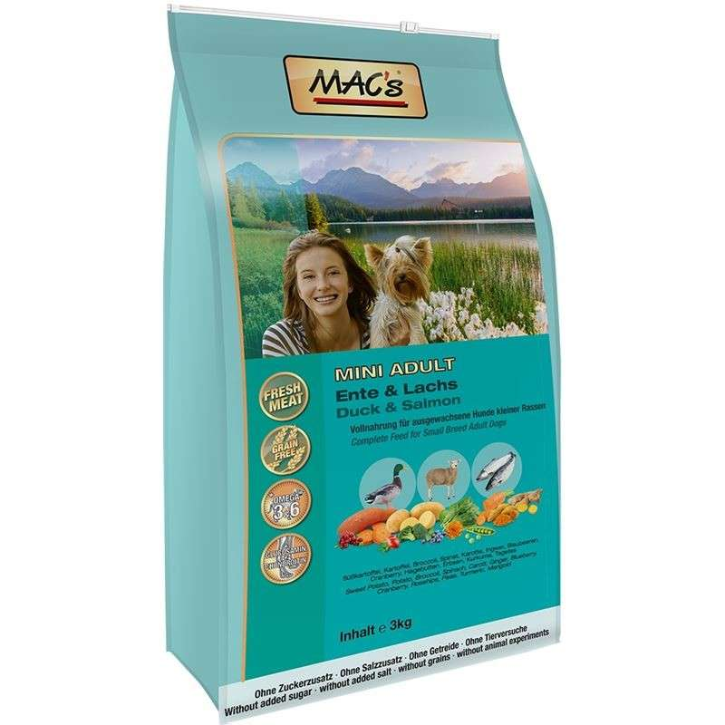 MAC's Dog - Mini Adult Duck & Salmon 3 kg