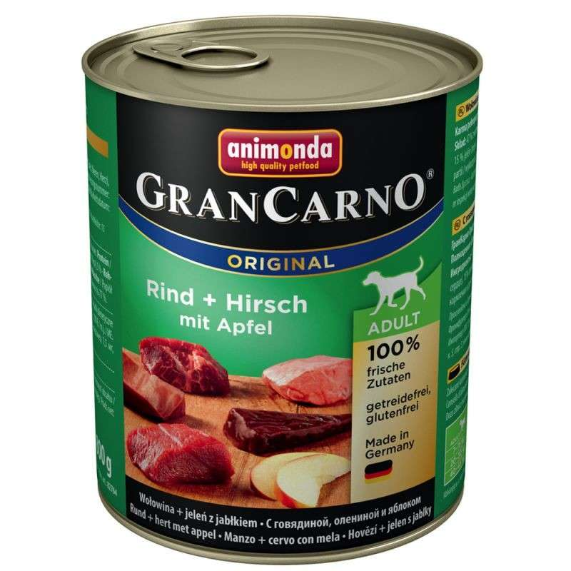 Animonda GranCarno Original Adult Beef & Deer with Apple 400 g, 800 g