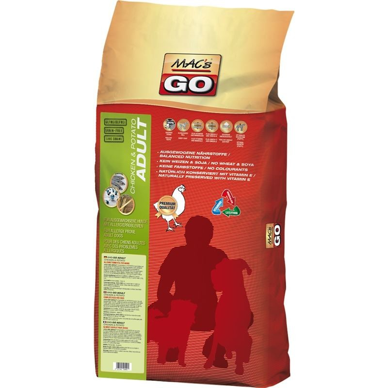 MAC's Go - Adult Chicken & Potato 3 kg, 12 kg