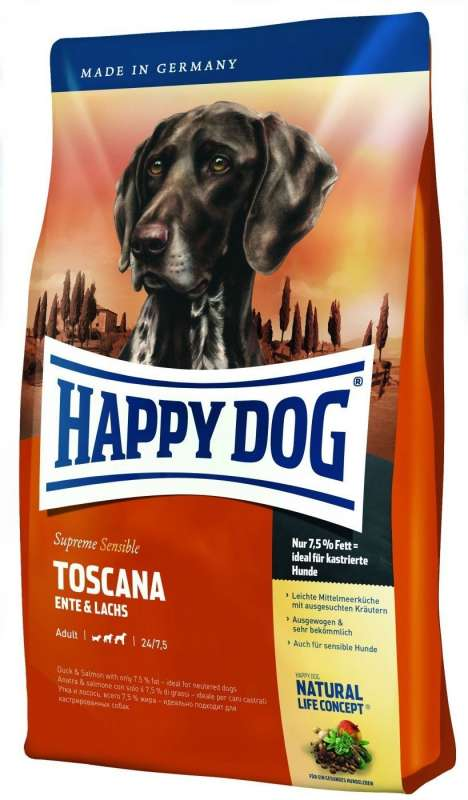 Happy Dog Supreme Toscana - Pato & Salmão 300 g