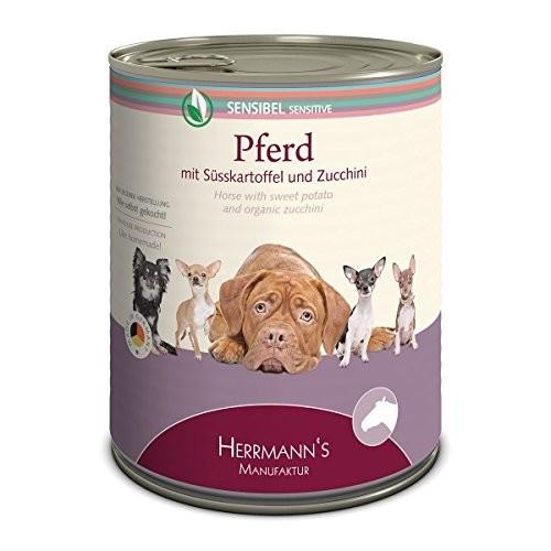 Herrmann's  Gevoelige Paardenvlees met zoete Aardappelen en Courgette, Blikje 400 g