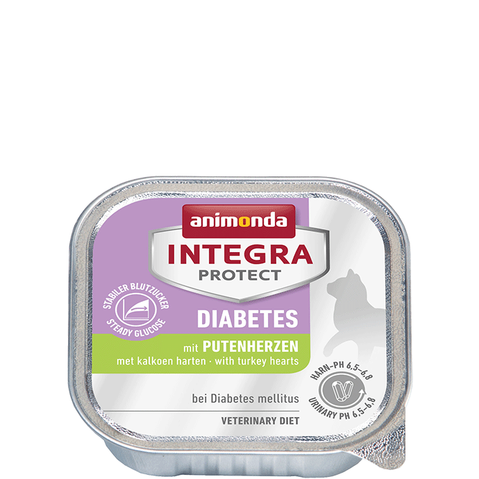 Animonda Integra Protect Diabetes Adult con Corazones de Pavo 100 g, 200 g prueba