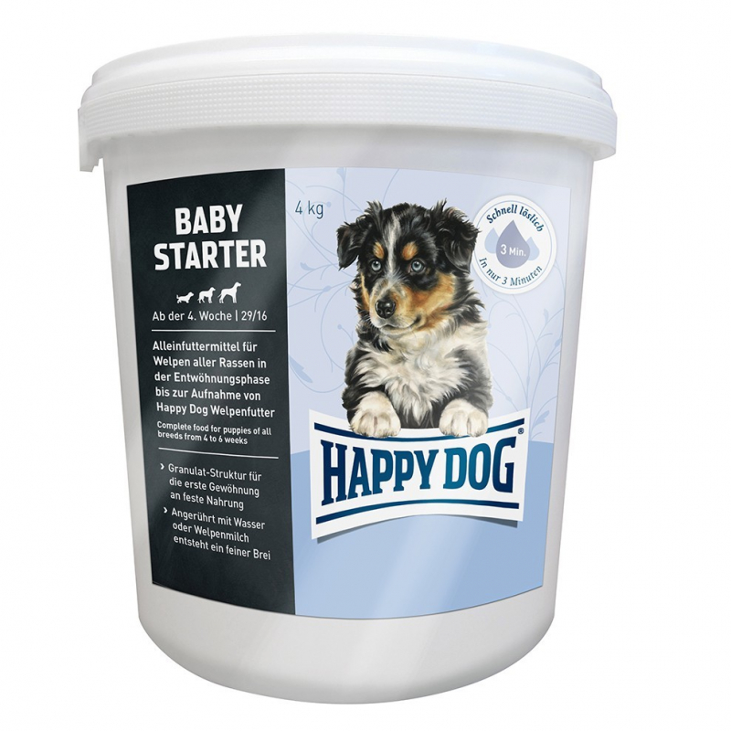 Happy Dog Baby Starter 4 kg, 1.5 kg testatut