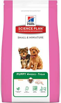 Hill's Science Plan Puppy Small & Miniature Kylling 300 g, 3 kg, 1.5 kg