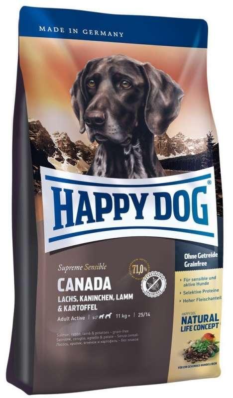 Happy Dog Supreme Canada met Zalm, Konijn, Lamsvlees en Aardappel 4 kg, 1 kg, 12.5 kg, 300 g, 10 kg
