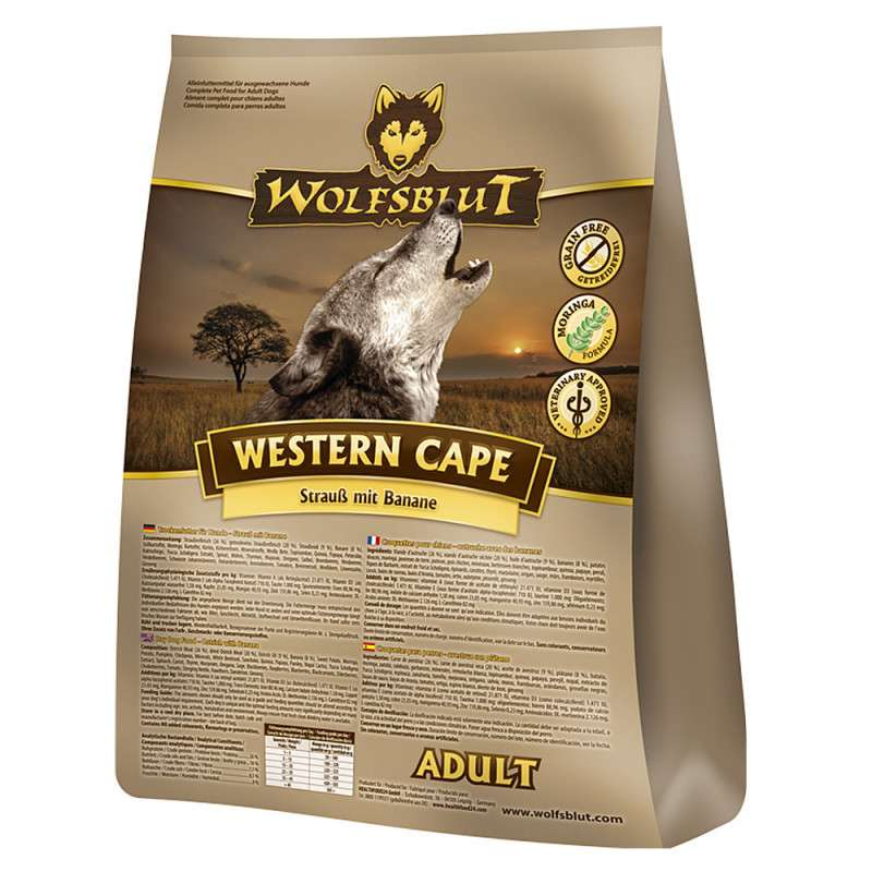 Wolfsblut Western Cape Adult Ostrich and Banana 500 g, 2 kg, 15 kg