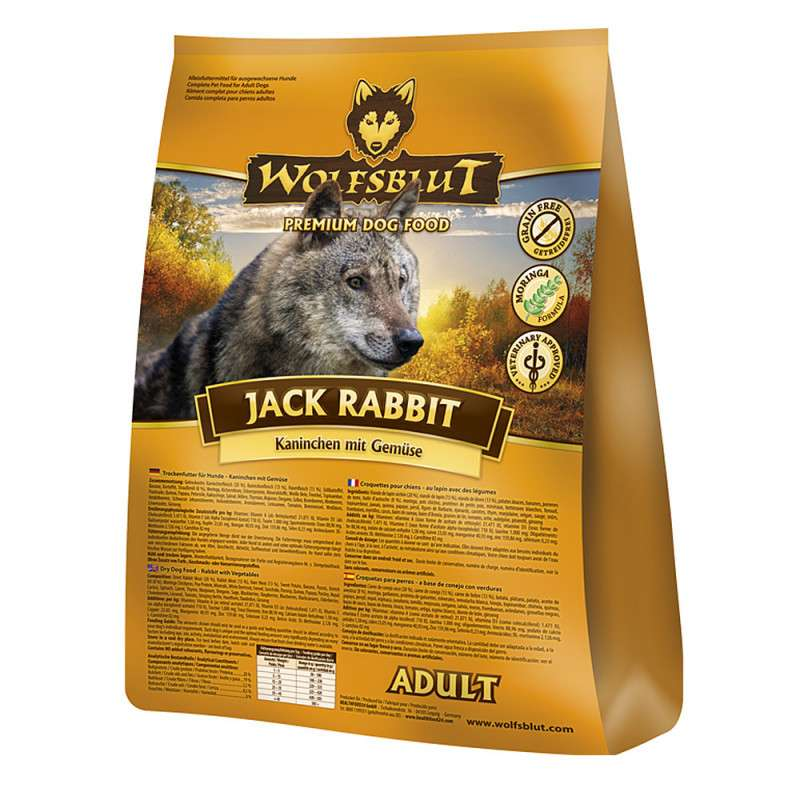 Wolfsblut Jack Rabbit Adult with Rabbit and Vegetables 500 g, 2 kg, 15 kg