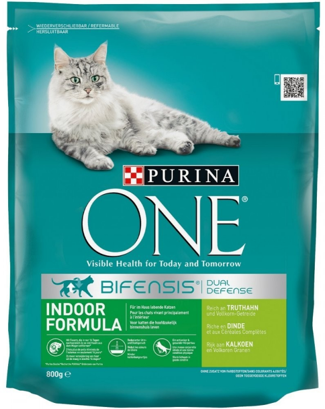 Purina ONE Bifensis Indoor Formula - Turkey & Grain-Crops 800 g, 3 kg, 1.5 kg osta edullisesti