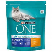Purina One Bifensis Senior 7+, Rich in Chicken and Whole Grains 800 g