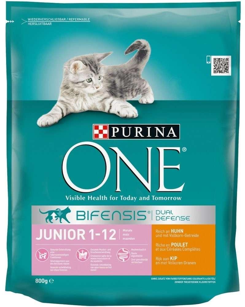 Purina ONE Bifensis Junior 1-12 months, Rich in Chicken and with Whole Grains 800 g köp billiga på nätet