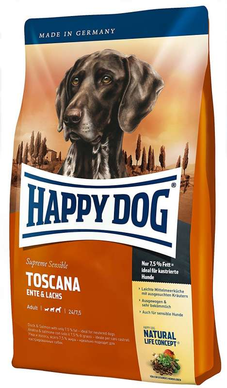 Happy Dog Supreme Sensible Toscana mit Ente & Lachs 300 g, 12.5 kg, 1 kg, 4 kg, 10 kg