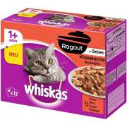 Whiskas Casserole Classic Selection in Jelly 1+, Megapack 12x85 g