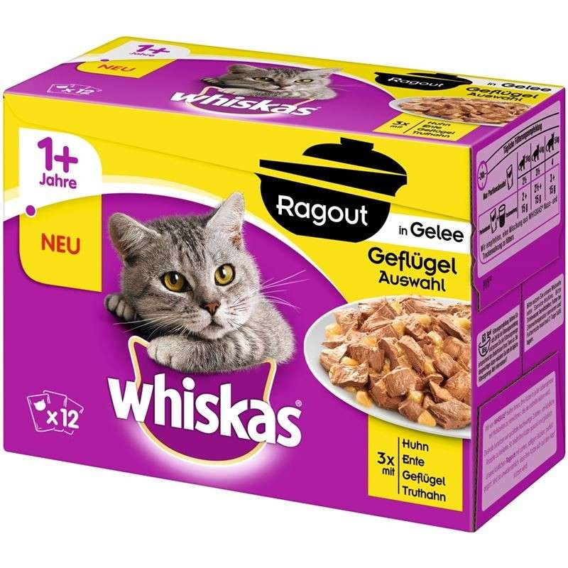 Whiskas Casserole Poultry Selection in Jelly 1+ 12x85 g, 24x85 g, 40x85 g