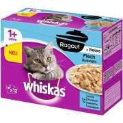 Whiskas Multipack 1 + Fischauswahl in Gelee 12x85 g