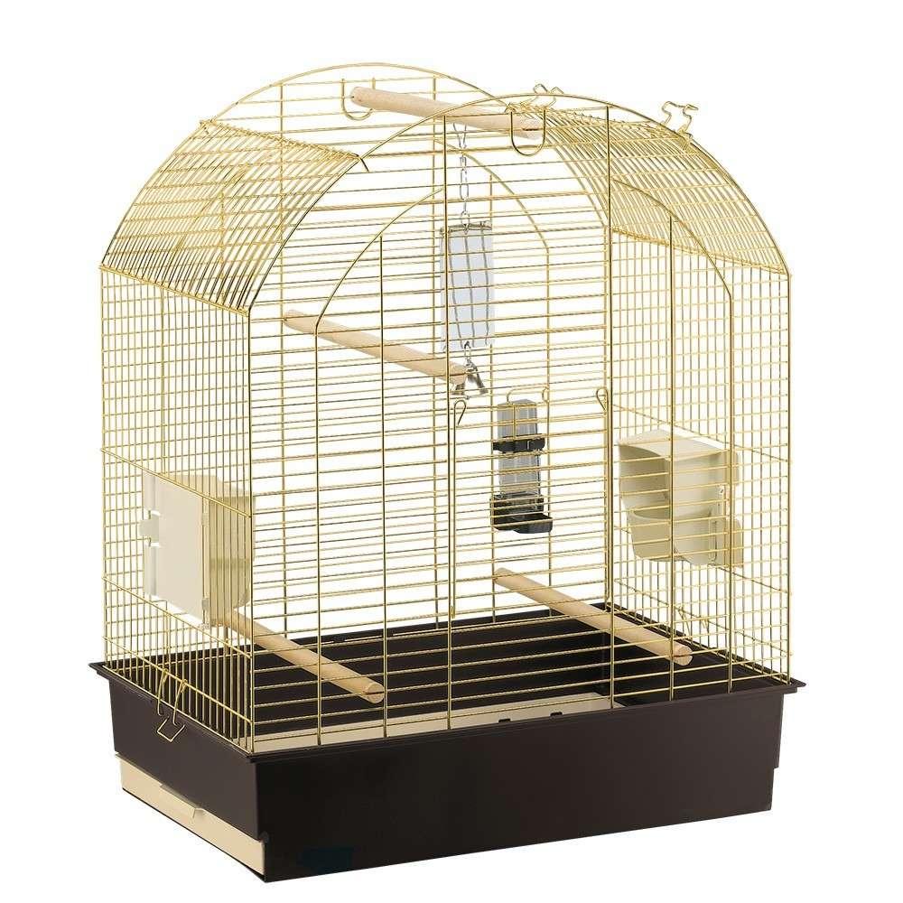 Ferplast Cage - Greta Brass O/Stand 69.5x44.5x84 cm