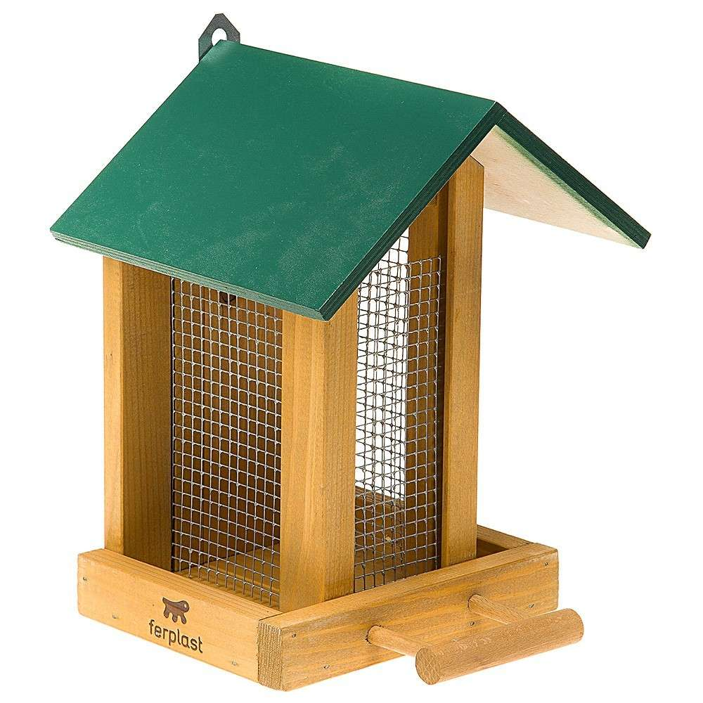 Ferplast Feeder 9 for Outdoors Green 20.5x18.5x26 cm