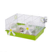 Cage - Milos Medium Flowers White 50x35x25 cm