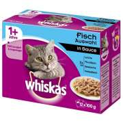 Whiskas Multipack 1+ Fischauswahl in Sauce 12x100 g