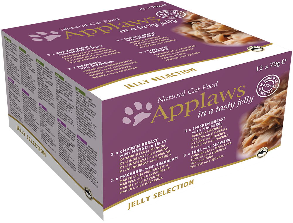 Applaws Natural Jelly Selection - Multipack 12x70 g 5060333437404 erfaringer