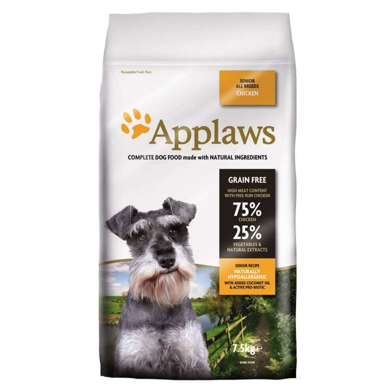Applaws Senior All Breeds met Kip 7.5 kg 5060333436261